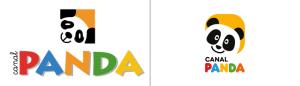 Antes e Depois do logótipo do «Canal Panda»