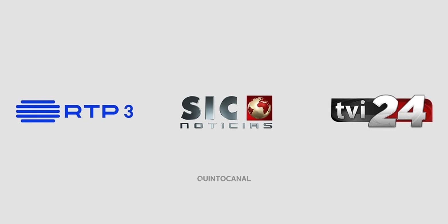 RTP 3 SIC NOTICIAS TVI 24