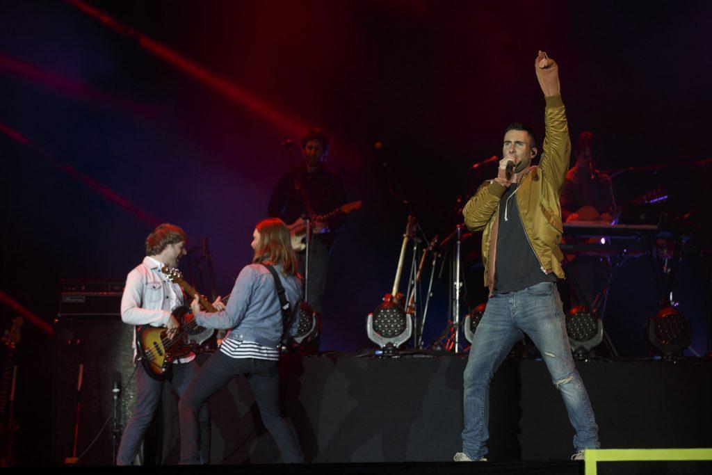 Rock in Rio - Lisboa 2016: Maroon 5 no Palco Mundo da Cidade do Rock no Parque da Belavista em Lisboa, Portugal a 28 de Maio de 2016. Foto: AgencioZero.net