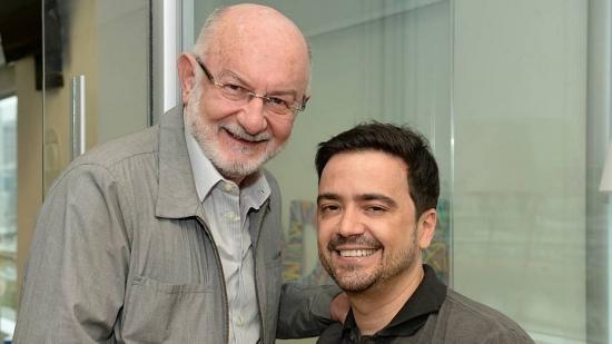Sílvio de Abreu com Daniel Ortiz, autor lançado por si