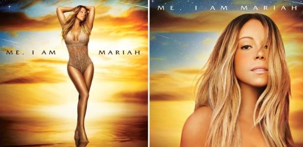 Capas das duas versões do novo álbum de Mariah Carey