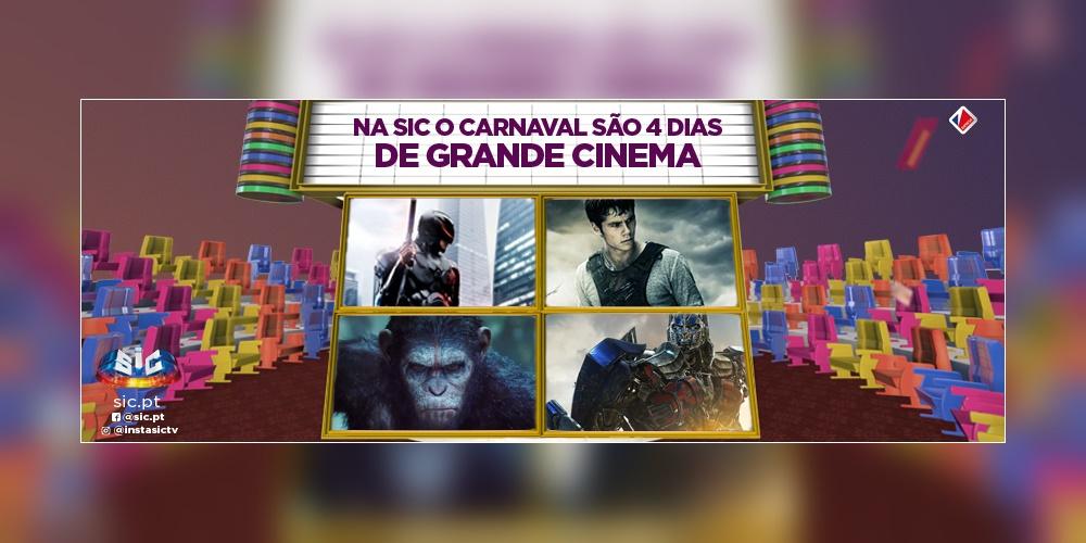 SIC aposta em quadro dias de cinema durante o Carnaval