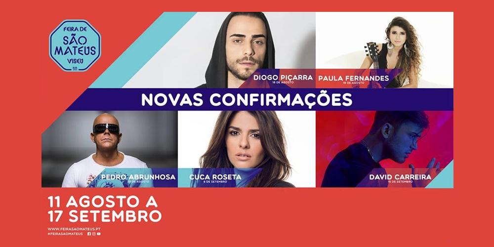 Paula Fernandes confirmada na «Feira de São Mateus 2017» em Viseu