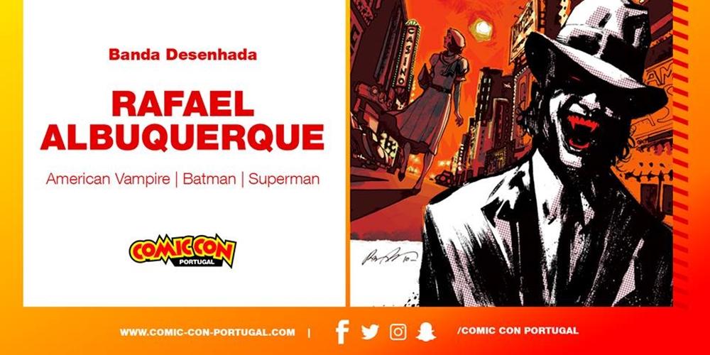 Rafael Albuquerque é a primeira confirmação da «Comic Con Portugal 2017»