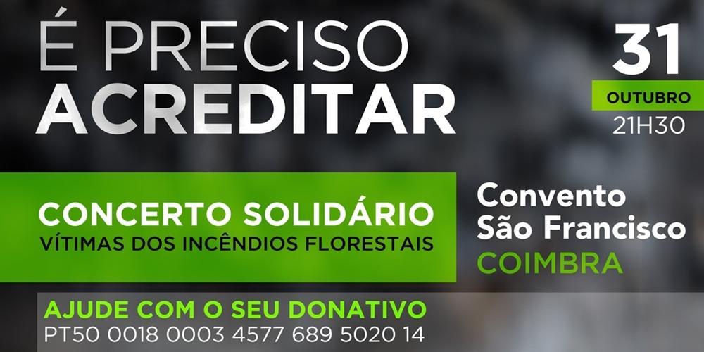 RTP transmite concerto solidário «É Preciso Acreditar»