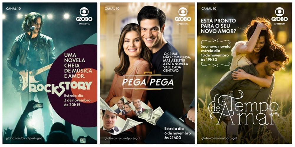Novelas em estreia na Globo Portugal com forte divulgação comercial