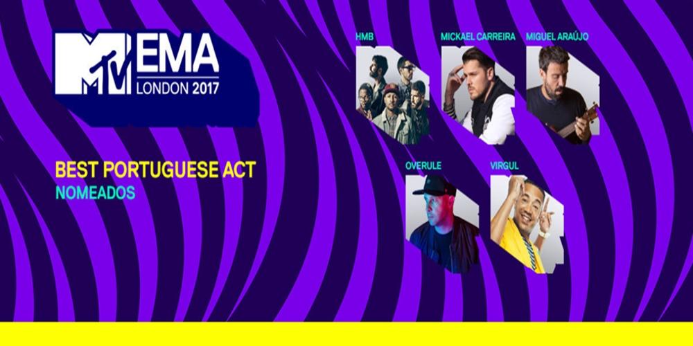 «MTV EMA's 2017»: Conheça os nomeados ao «Best Portuguese Act»