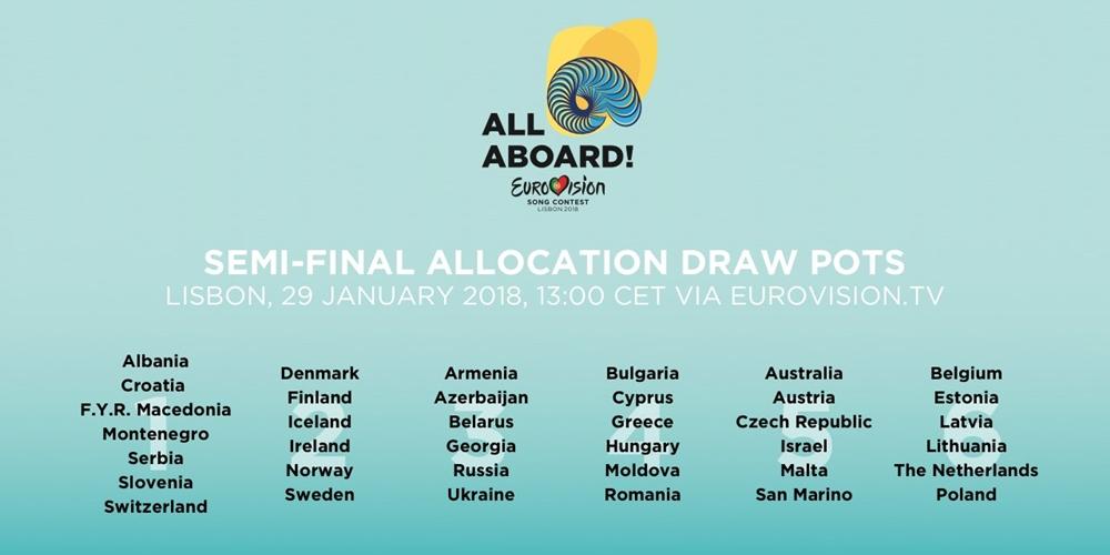 «Eurovision Song Contest» realiza sorteio das semi-finais a 29 de janeiro