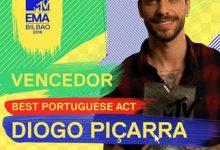 Diogo Piçarra conquista «Best Portuguese Act» dos «MTV EMA's» 2018