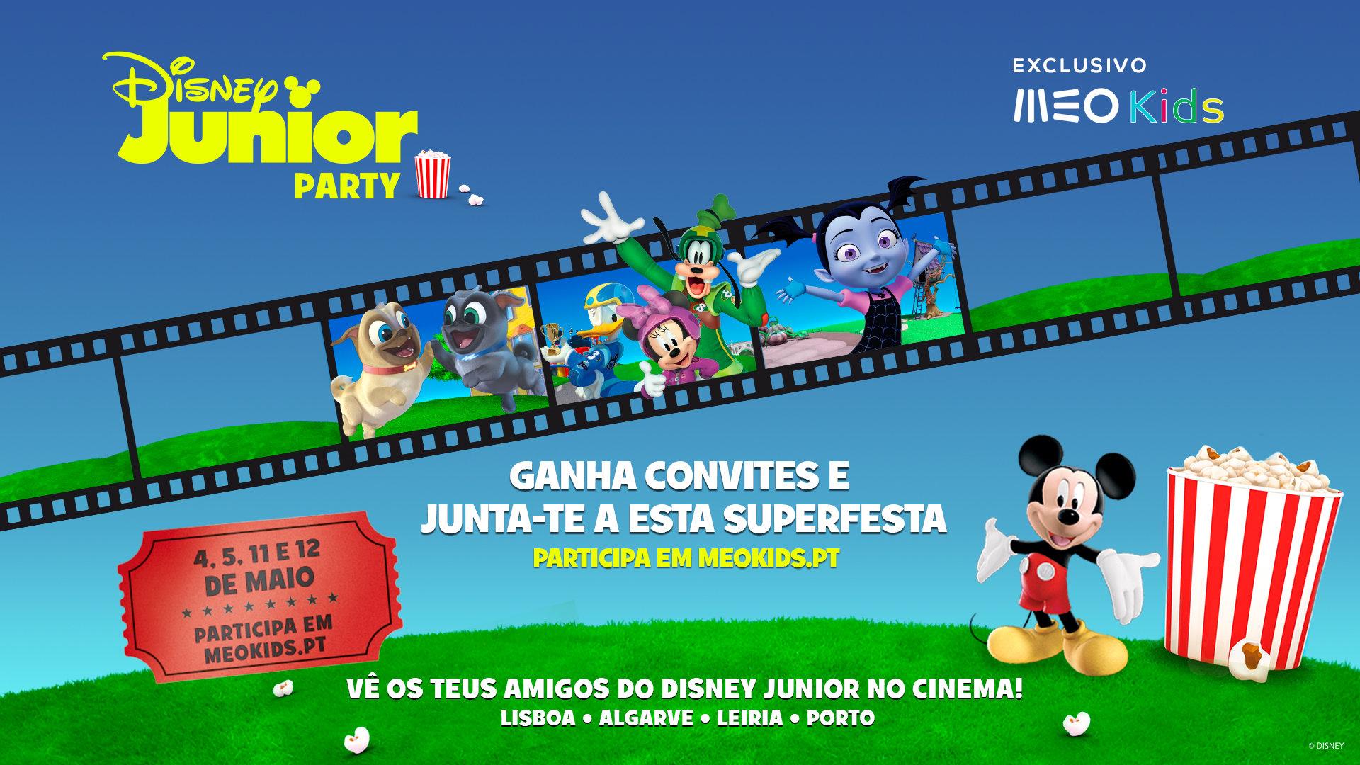Disney Junior e MEO Kids realizam festa conjunta em várias cidades