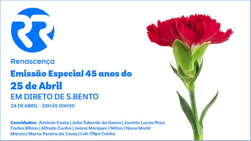 Dia da Liberdade: Renascença realiza emissão especial em direto de São Bento