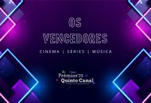 Prémios Quinto Canal 2020 – Os Vencedores (Cinema, Séries e Música)